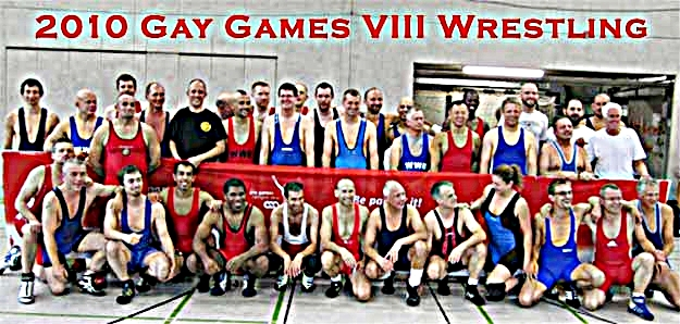 The wrestlers of the 2010 Gay Games Cologne Freestyle Tournament