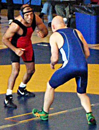 Steve Pezzoli faces off against Josh Watkins at the 2009 WWB Cup Championship in San Francisco